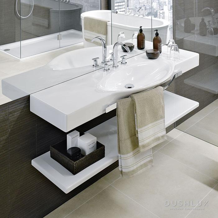 Laufen Palace Раковина 150x51x11 см, подвесная/накладная, с полотенцедержателем, 1 отв. для смесителя, цвет: белый
