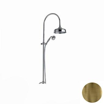 Nicolazzi Doccia Душевая стойка с квадратной лейкой 200 мм, переключателем и ручным душем цвет: Bronze Plated