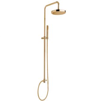 Nicolazzi Doccia Душевая стойка с верхним душем Ø 20см, с переключателем и ручным душем, цвет: золото 24к