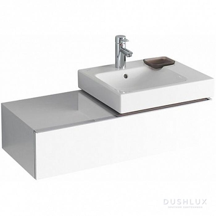 Geberit iCon Тумба с раковиной 89х24х47.7см, с 1 отв., подвесная, с одним выдвижным ящиком и полкой, цвет: белый