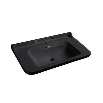 Kerasan Waldorf Раковина 100х55 см, 1 отв., керамическая, цвет: черный/хром