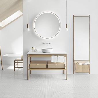 Burgbad Mya Комплект напольной мебели 120x50x79 см, дуб натуральный, столешница с раковиной белые