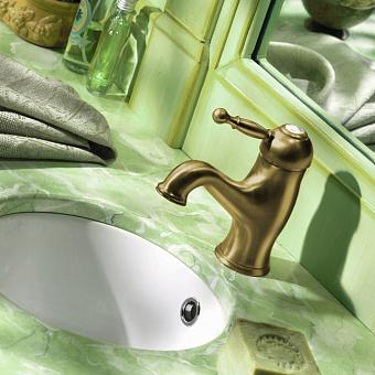 CISAL Arcana Royal Смеситель однорычажный для раковины на 1 отверстие с донным клапаном, цвет бронза