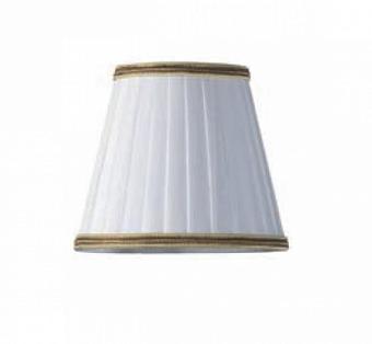TW 14, абажур для светильника E14, цвет ткани: белый с золотым кантом
