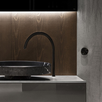 Falper Acquifero Излив для раковины/ванны, 35 см, цвет: черный матовый