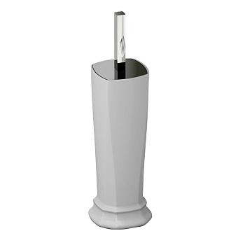 Artceram Civitas Ершик напольный с керамической колбой 10х50 cм, цвет: серый/хром