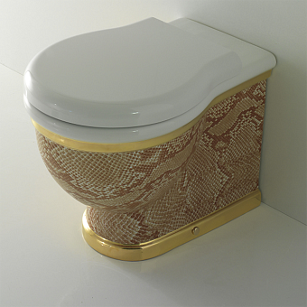 GLOBO Paestum Унитаз напольный пристенный 57*38см, слив универсальный, с комплектом креплений, цвет: Python A33