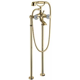 Bongio Rivoli Смеситель для ванны, 2 отв., цвет: золото/хрусталь