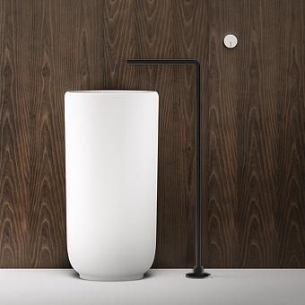 Falper Acquifero Излив, 66 см, напольный, цвет: черный матовый