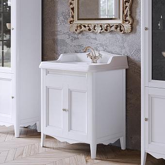 TW Veronica Nuovo комплект мебели с  2-мя дверцами, с доводчиками Blum,  ручки: бронза, 73см, Цвет bianco