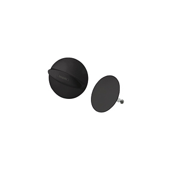 Hansgrohe Flexaplus Набор для слива-перелива, цвет: черный матовый