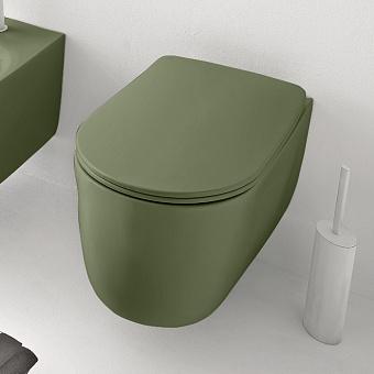 Kerasan Nolita Унитаз безободковый подвесной 55х35 см, с креплениями WB9N, цвет Verde