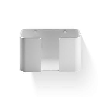 Decor Walther Stone WPTB Держатель для бумажных полотенец, подвесной, цвет: белый / сталь матовая