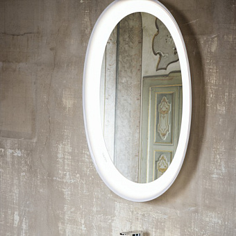 Laufen New Classic Зеркало в крамической раме с подсведкой LED 500х80х700 мм, цвет белый матовый