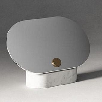 Agape Constellation Зеркало с мраморным основанием настольное 31x20 см, горизонтальное, мрамор Carrara,  цвет: белый