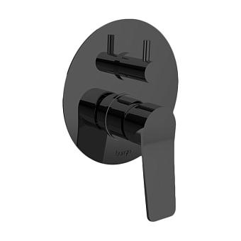 Bongio GIO2 Смеситель встроенный для душа с переключателем, 3 выхода, цвет: черный матовый