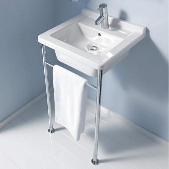 Duravit Starck 3 Консоль металлическая с раковиной 480x465мм, цвет белый/хром