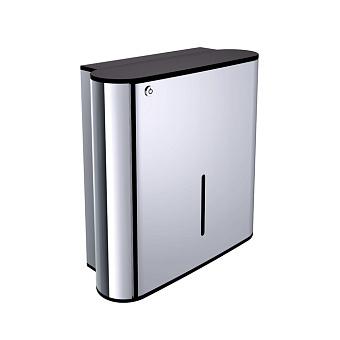 EMCO System2 Диспенсер для бумажных полотенец, подвесной, цвет: черный/хром