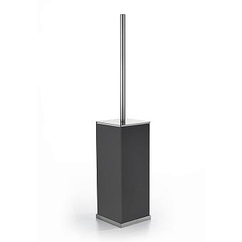 3SC Mood Deluxe Туалетный ёршик, напольный, композит Solid Surface, цвет: чёрный матовый/хром