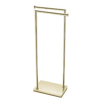 3SC Piantane Напольная стойка с 2 полотенцедержателями 30х18хh83см, цвет: золото 24к. Lucido