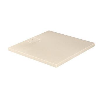 Duravit  Stonetto Поддон композитный квадратный  100x100х5см, d9см, цвет Песочный