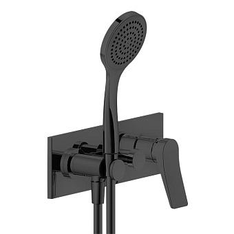 Gessi Rilievo Встраиваемый смеситель для ванны на 2 источника, с душевой лейкой и переключателем  цвет: nero XL
