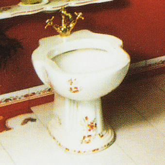 Herbeau Charleston Биде напольное, цвет белый с декором