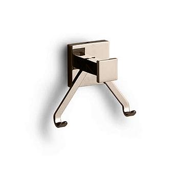 Bertocci Settecento Крючок двойной, подвесной, цвет: nichel mat