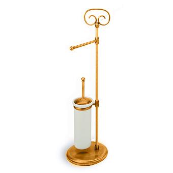StilHaus Idra Стойка: ерш + бумагодержатель, подвесной монтаж, цвет: бронза/керамика
