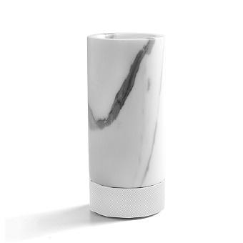 3SC Apuana 2.0 Стакан настольный, цвет: мрамор Bianco Statuario/белый матовый