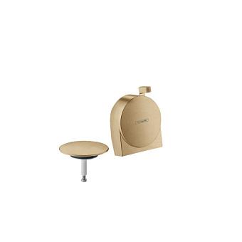 Hansgrohe Exafill S Внешняя часть излива на ванну с набором для слива и перелива, цвет: шлифованная бронза