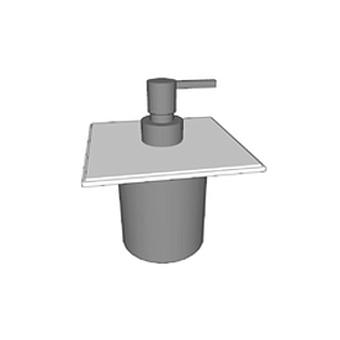 Agape 369 Дозатор жидкого мыла, подвесной, цвет: белый/глянец