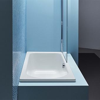 BETTE Ocean Ванна 180х80х45 см, с шумоизоляцией, перелив сзади, с комплектом ножек, цвет: белый