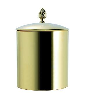 TW SSS6501, ведро с крышкой диаметр 22*h29см, цвет: золото