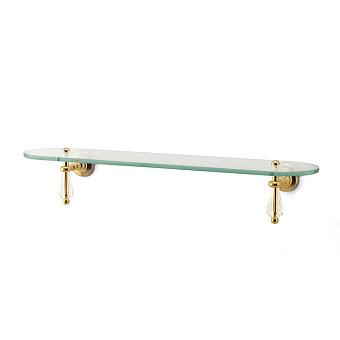 3SC Boheme Полочка 80х13см стеклянная, крепех h9,5см, цвет: золото 24к. Lucido
