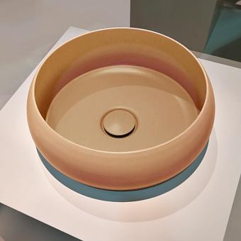 BETTECraft  Раковина-чаша 35х35х12 cм, без отв., на столешницу, круглая, без перелива, цвет: карри 040