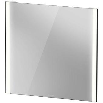 Duravit XViu Зеркало с подсветкой 82x80см, сенсорное управление, цвет: черный матовый