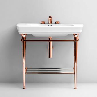 Artceram Civitas Металическая структура Quadra 70х40хh80,5см для раковины 90, полка сетка, цвет: розовое золото