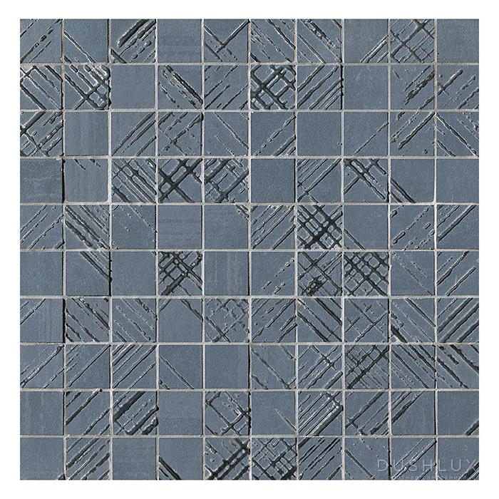Fap Bloom Керамическая плитка 30,5x30,5см., для ванной, настенная, мозаика, цвет: металл серебро/blue