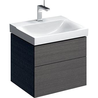 Geberit Xeno² Тумба с раковиной 58х22х46.2см, с 1 отв., подвесная, с двумя выдвижными ящиками, цвет: серый/меламин