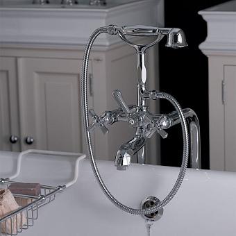 Nicolazzi Teide Four Смеситель для ванны с душем, излив: 155 мм, цвет: хром