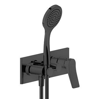 Gessi Rilievo Встраиваемый смеситель для ванны на 2 источника, с душевой лейкой и переключателем, цвет: nero XL