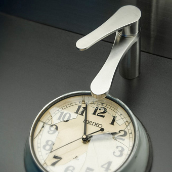 Bongio O'Clock Green, Смеситель для раковины, цвет: хром