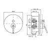 Zucchetti IsyFresh Однорычажный встроенный смеситель для ванн, цвет: хром