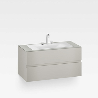 Armani Roca Baia Тумба подвесная с раковиной, 120х59х61см с 2 ящиками, со столешницей, цвет: silver