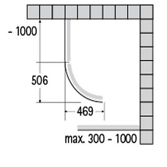 Sprinz Saphir Душевое ограждение 1000x Н:2000мм Радиус 506мм