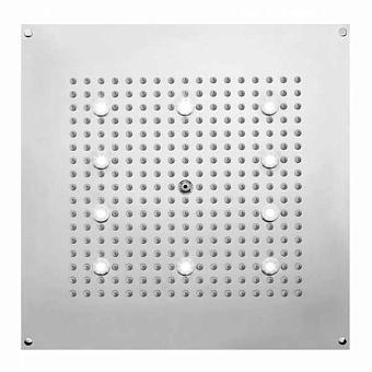 BOSSINI DREAM-CUBE Верхний душ 470 x 470 мм, с 10 LED (белый), блок питания/управления, Cromoterapia, цвет: хром