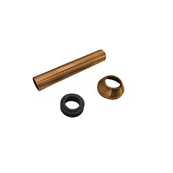 KERASAN Набор для подключения скрытого смывного бачка к напольному унитазу d=40мм, цвет: бронза
