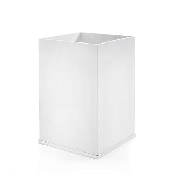3SC Mood Deluxe Ведро, без крышки, 20х30х20 см, композит Solid Surface, цвет: белый матовый/белый матовый