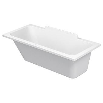Duravit DuraSquare Ванна 1600х700 мм, прямоугольная, встраиваемая или версия с панелями и ножками, с наклоном для спины слева/справа, цвет белый